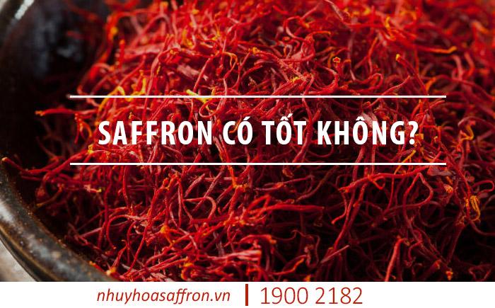 nhụy hoa nghệ tây saffron có tốt không