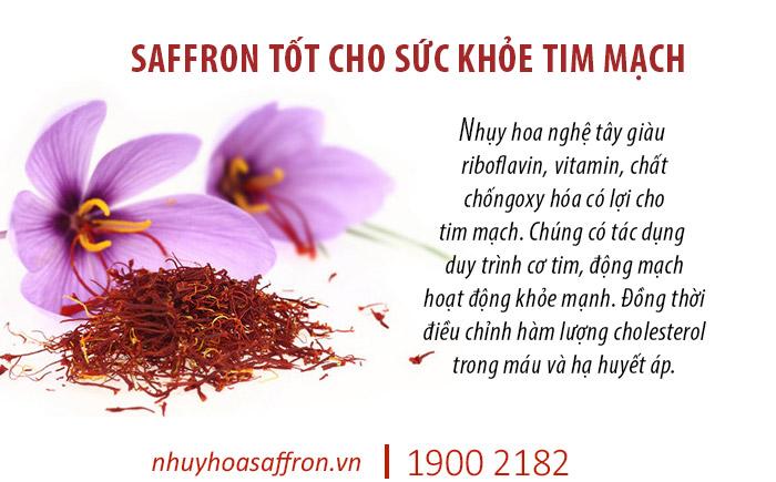 tác dung cua saffron