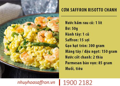 cách làm cơm saffron