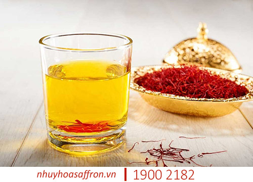 cach uong nhuy hoa nghe tay saffron