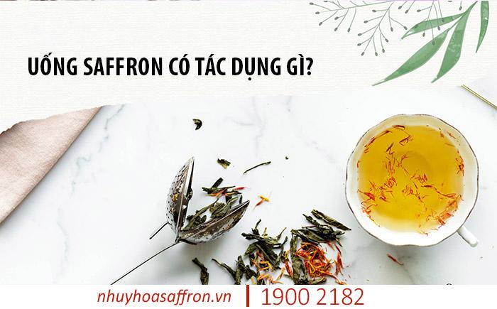 uống nhụy hoa nghệ tây saffron có tác dụng gì